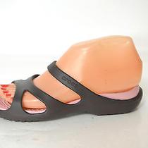 Crocs Women's Meleen Expresso/ Petal Pink Slide Sandals Size 6 Photo