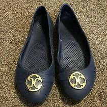 Crocs Womens Navy Blue and Gold Ballet Flats Size 7 Photo