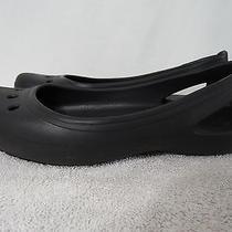 Crocs Womens 9 Black Mary Jane Ballet Flats Shoes Clogs Photo