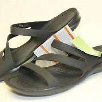 Crocs Womens New Size 7 M 37 38 Swiftwater Slip on Water Sandal Shoes 203998-060 Photo