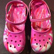 Crocs Womens Ty Dy Slip-on Slingback Maryjane Flats-Shoes Sandals Size 9 Photo