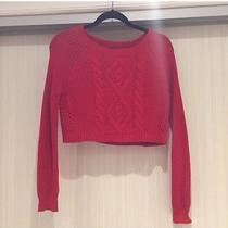 Cropped Red Sweater- Express Photo