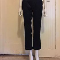 Cropped Satin Pants Black Bootcut Stretch Gap High Water Silky Minimal 4 Ankle  Photo