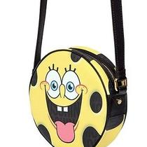 Crossbody Shoulder Bag Clutch Moschino Sponge Bob Coated Canvas Leather Yellow Photo