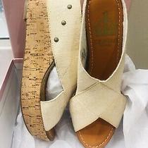 Crown Vintage Anthropologie Delight Cork Slide Wedge Sandals Photo
