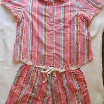 Cruz Natori Pajama Shorts Nightie Sleepwear Set Pink Size Xl Photo