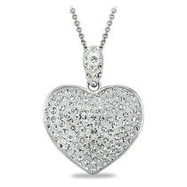 Crystal Heart Necklace Made With Swarovski Elements Photo