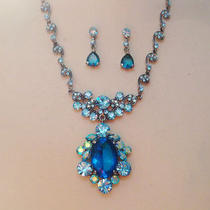 Crystal Necklace Earrings Jewellery Set 70% Off Ltd Time Photo