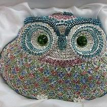Crystal Owl Color-T Metal Evening Purse Clutch Bag Handbag in Free Shipment Photo