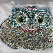 Crystal Owl Color-T Metal Evening Purse Clutch Bag Handbag in Free Shipment Photo
