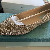 Crystal Wedding Flats Blue by Betsey Johnson Jude Nude Ballet Size 10 Photo