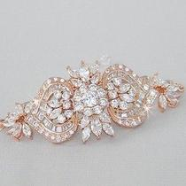 Crystalavenues Rose Gold Bridal Bracelet Photo