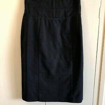 Cue  Black Pencil Skirt Size 8 Euc  Express Tracked Post Included  Photo