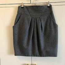 Cue  Grey & Silver Tulip Skirt Size 8 Euc  Express Tracked Post Included  Photo