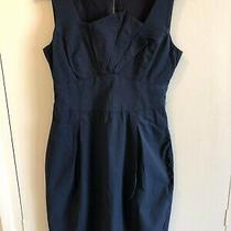 Cue  Navy Blue Dress Size 8 Euc  Express Tracked Post Included  Photo
