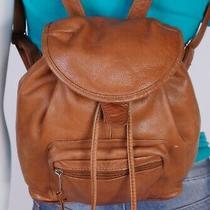 Cueritos Medium Tan  Leather Shoulder Hobo Tote Satchel Backpack Purse Bag Photo
