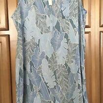 Cupio Blush Womens Blue Rayon Collared Sleeveless Dress Size Xl Slit Sides New Photo