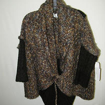 Curio Sweater Sz S/m Poncho Sweater Hues of Brown Amazing Piece New Tag 228 Photo