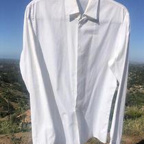Current 550 Cd Christian Dior White Cotton Straight Cut Long Sleeve Shirt Sz 38 Photo