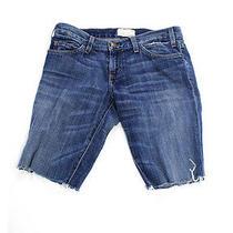 Current Elliott Blue Medium Wash Cut Off Denim Jean Mid Length Shots Sz 27 Photo
