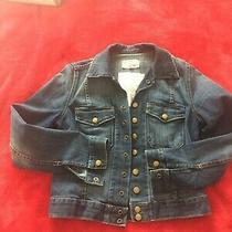 Current Elliott Denim Snap Jacket in 'Loved' Size 1 Photo