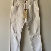 Current Elliott Nwt 198 Womens Jeans Pants Cropped Straight White Size 24 Photo