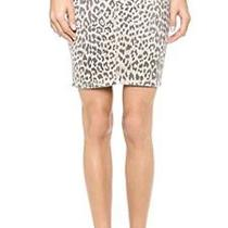 Current/elliott the Soho Zip Stiletto Leopard Pencil Skirt Us 26 / Uk 8 Vgc 200 Photo