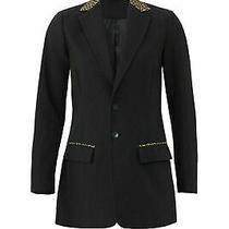 Current/elliott Women's Blazer Brown Black Size 2- 4 (1) Two-Button 328- 143 Photo