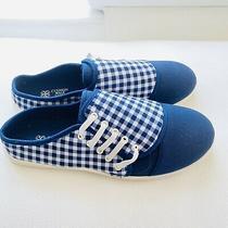 Cushion Walk by Avon Navy Check Shoes 10 New Slipon Shoes Photo