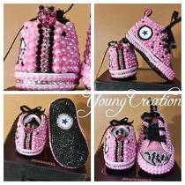 Custom Bling Infant Converse Photo