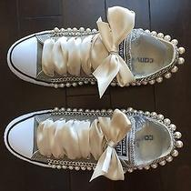 Custom Chained and Beaded Converse Shoes Luxury Looking Photo