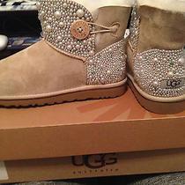 Custom Design Swavoski Stone and Pearl Ugg Boots Photo