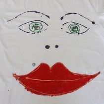 Custom Hand Painted T Shirt Medium Brand New 100% Cotton  Photo