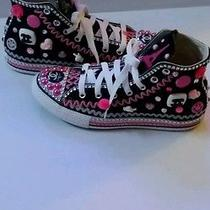 Custom Junked Out  Chucks All Black Pink white.size3 Photo