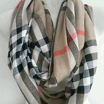 Custom Made Infinity Scarf Burberry Fabric Photo