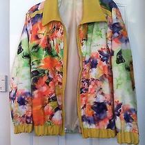 Custom Made Roberto Cavalli Fabric and Leather Bomber  Photo