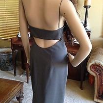 Custom Made Vera Wang Vogue Designer Womens Sexy Back Gray Cocktail Dress 9 10 Photo