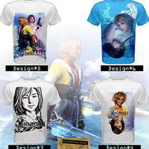 Custom Men's Game T-Shirt - Final Fantasy X / X-2 Ps3 / Ps4 Game Theme Photo