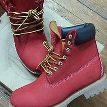 Custom Men's Red Timberland Boots Sz. 8 Photo
