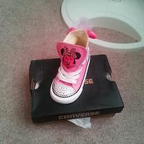 Custom Minnie Converse Infant Size - Light Pink Photo