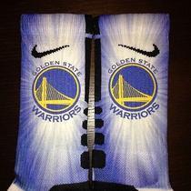 Custom Nike Elite Socks Golden State Warriors All Sizes Available Photo