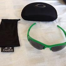 Custom Oakley Flak Jacket Green With Grey Lenses Photo
