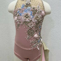 Custom Original Handmade Solo Dance Competition Costume Blush Girls Size 7-8 New Photo
