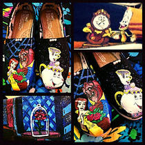 Custom Painted Beauty and the Beast Toms. Free Personalization Photo