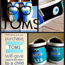 Custom Painted Custom Painted Hipster/eye Doctor Toms. Free Personalization Photo