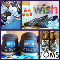 Custom Painted Elephant Toms. Designed and Personalized Just for You Photo