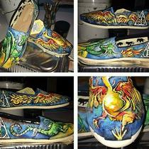 Custom Painted Harry Potter Toms Size 8.5 Photo