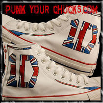 Custom Painted One Direction Converse Sneakers by Celebrity Artist Mag Photo