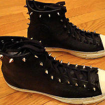 Custom Studded Punk Converse Chuck Taylor Leather Men's Sneakers Shoes W Spikes Photo