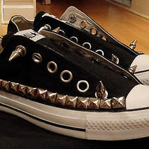 Custom Studded Studs & Spikes Converse Chuck Taylor All Star Sneakers Shoes Punk Photo